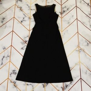 Ann Taylor Empire Classy Black Floor Length Dress